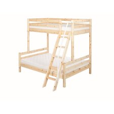 Flexa Classic Bunk Bed with Classic Double Bed and Slanting Ladder