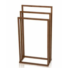Bamboo Square Towel Rack in Wood
