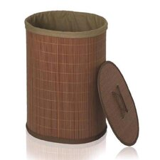 Crush Oval Laundry Basket in Wood