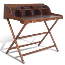 Campaign Writing Desk with Rack