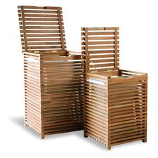 Slatted Laundry Lining Baskets 2 Piece Set