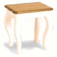 Painted Provence Stool in Antique White