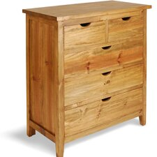 Indiana Pine 5 Drawer Chest