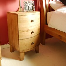 Cordoba Pine 3 Drawer Bedside Table