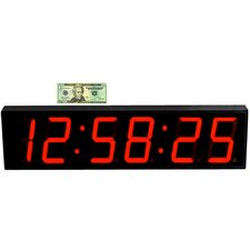 "Large 5"" Digit LED with Remote Control Clock"