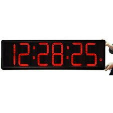 "Long Distance 9"" Digit LED with Remote Control Clock"