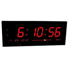 Large Calendar Multi-Alarm with Seconds Display for Desk or Wall