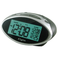 "<strong>Geneva Clock</strong> Elgin 1.3"" LCD Display Date and Indoor Temperature Alarm Clock"