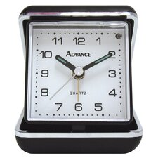<strong>Geneva Clock</strong> Advance Quartz Analog Travel Alarm Clock