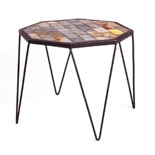 Mosaic Slate Hex End Table