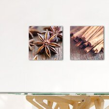 Deco Glass Exotic Spices 2 Piece Photographic Print Set