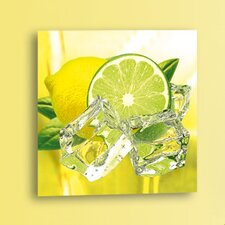 Deco Glass Fresh Lemon and Lime Photographic Print