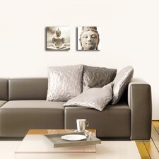 Deco Glass Buddha 2 Piece Photographic Print Set