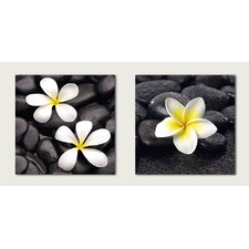 Deco Glass Jasmine Wall Decor (Set of 2)