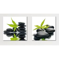 Deco Glass Reflections Wall Decor (Set of 2)