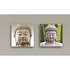 Deco Glass Enlightened Wall Decor (Set of 2)