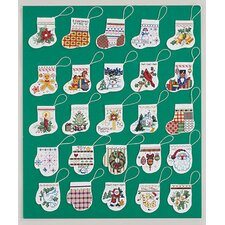 Lotsa Stocking & Mitten Orn Christmas Cross Stitch (25)