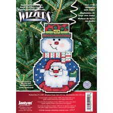 Snowman with Santa Counted Cross Stitch