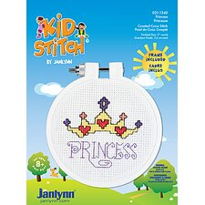 Princess Counted Cross Stitch Kid