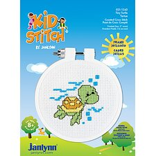 Tiny Turtle Counted Cross Stitch Kid