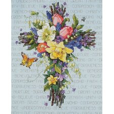 Spring Floral Counted Cross Stitch