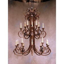 <strong>2nd Ave Design</strong> Serratina 20 Light Chandelier