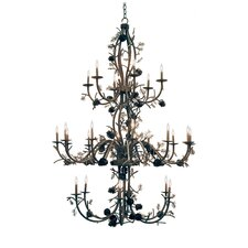 Pinecone 24 Light Chandelier