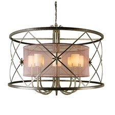 <strong>2nd Ave Design</strong> Penelope 8 Light Drum Pendant