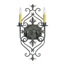 <strong>2nd Ave Design</strong> Louisa 2 Light Wall Sconce