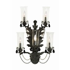French Baroque 5 Light Wall Sconce
