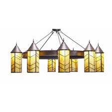 Chevron 10 Light Chandelier