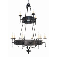 <strong>2nd Ave Design</strong> Lorenzo 12 Light Chandelier