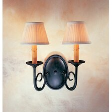 <strong>2nd Ave Design</strong> Jenna 2 Light Wall Sconce