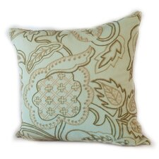 Manor Crewel Cotton Sea Glass Pillow