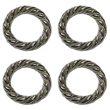 Silver Twist Napkin Rings (Set of 4)