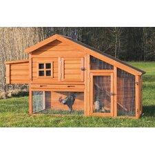 Natura Chicken Coop with Nesting Box, Roosting Pole and Pull-Out Tray