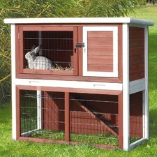 Small Animal Hutch with Sloped Roof