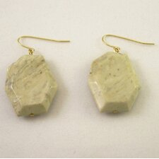 Earth Tone Lucite Beaded Earrings