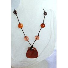 Burgendy Agate Necklace