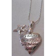 Chrisha Inspirational Heart Shape Pendant Necklace