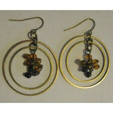 Drop Earrings with Topaz Tone Beads