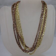 Gold Tone Strand Necklace