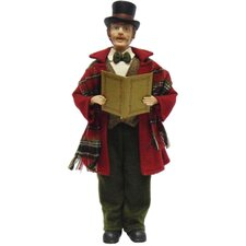 4 Piece Victorian Plaid Carolers Figurines Set