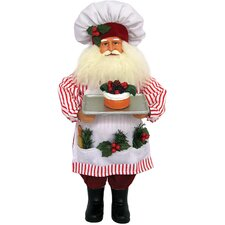 2 Piece Mr and Mrs Claus Baking Figurines Set