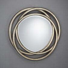 Modern Interweaved Fretwork Rings Mirror