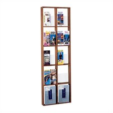 Ten Pocket Vertical Magazine Rack with Paper Stop and Pocket Divider Kit