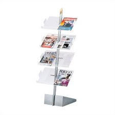 <strong>Peter Pepper</strong> Freestanding Magazine & Literature Rack with 8 Slotted Pockets