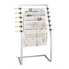 7 Pocket Free Standing Newspaper Hanger