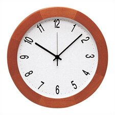 Round Light Cherry Bezel Wall Clock