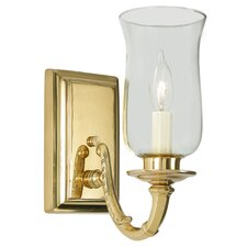 Virginia 1 Light Wall Sconce with Hurricane Shade